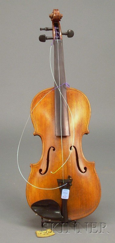 515: Saxon Violin, c. 1870, length of two-piece back 14
