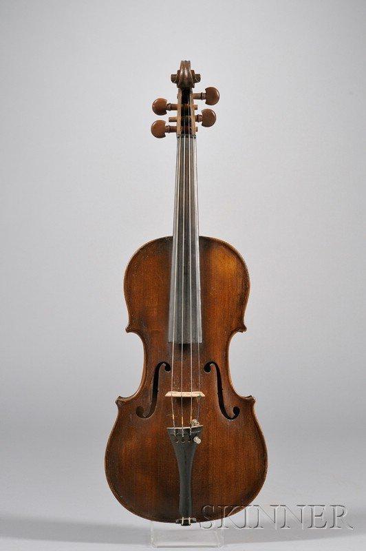 516: Klingenthal Violin, c. 1850, unlabeled, length of