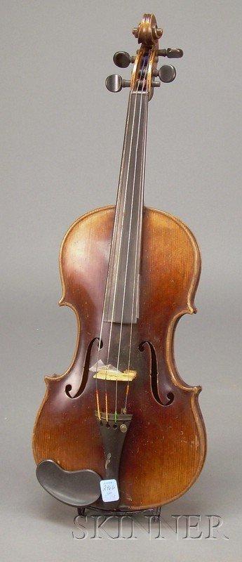 519: German Violin, c. 1910, labeled COPY OF, JOSEPH GU