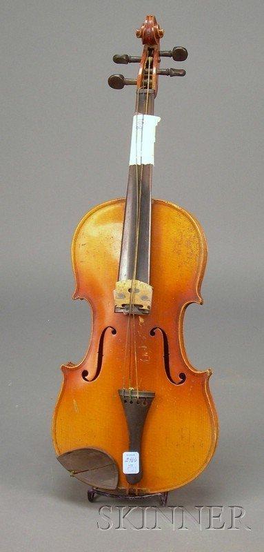 521: German Violin, c. 1920, labeled ANTONIUS STRADIVAR