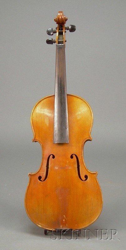 524: Czech Violin, c. 1920, labeled ANTONIUS STRADIVARI