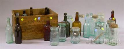 877D Thirtyone Assorted Colored Molded Glass Bottles