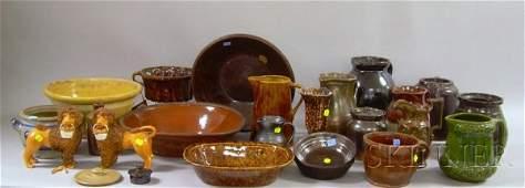 940: Twenty-three Pieces of Assorted Stoneware, Redware