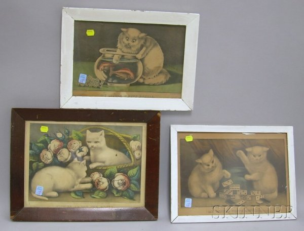 1118: Five Framed Currier & Ives Small Folio Hand-color