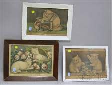 1118 Five Framed Currier  Ives Small Folio Handcolor