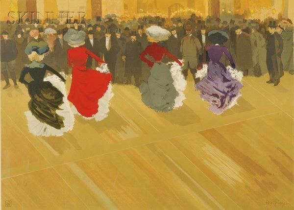 2: Louis Abel-Truchet (French, 1857-1918) La quadrille,