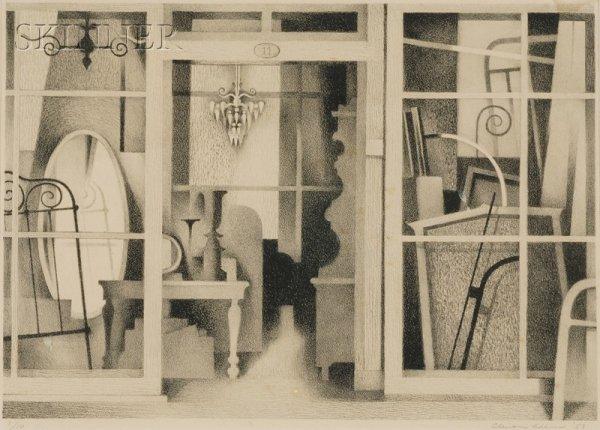 3: Clinton Adams (American, b. 1918) Interior, 1953, ed