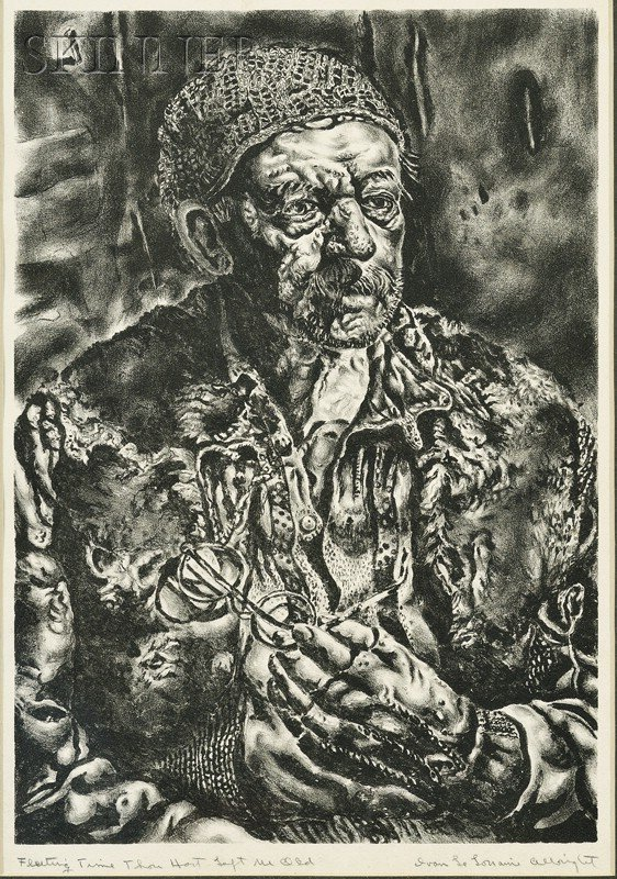 4: Ivan Le Lorraine Albright (American, 1897-1983) Flee