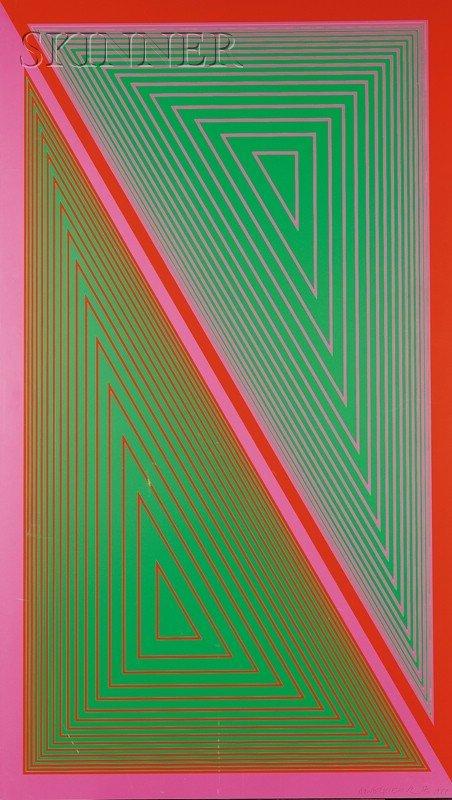 7: Richard Anuszkiewicz (American, b. 1930) Triangulate