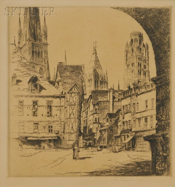9: John Taylor Arms (American, 1887-1953) Rouen, 1925,