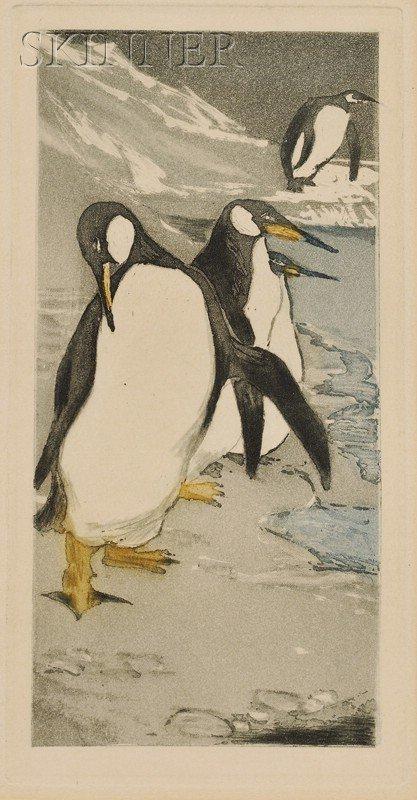 10: Lot of Two Animal Prints: Helen Baker (American, 20
