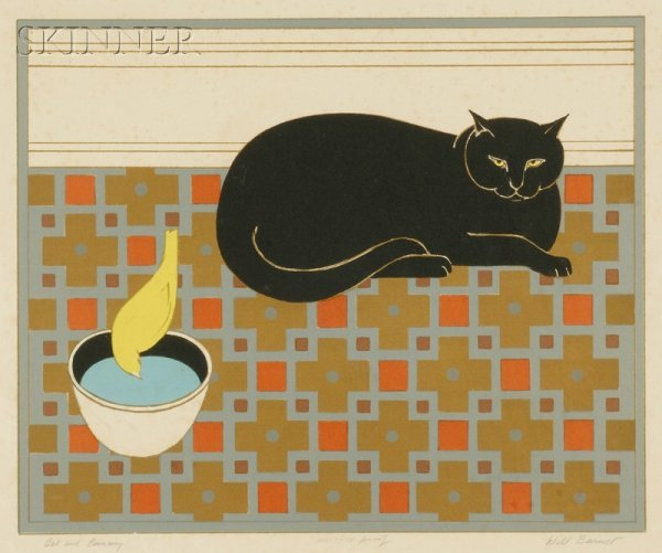 11: Will Barnet (American, b. 1911) Cat and Canary, 197