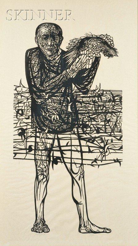 12: Leonard Baskin (American, 1922-2000) Man of Peace,