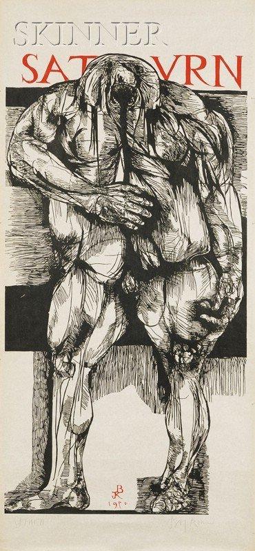 14: Leonard Baskin (American, 1922-2000) Saturn, 1970 (