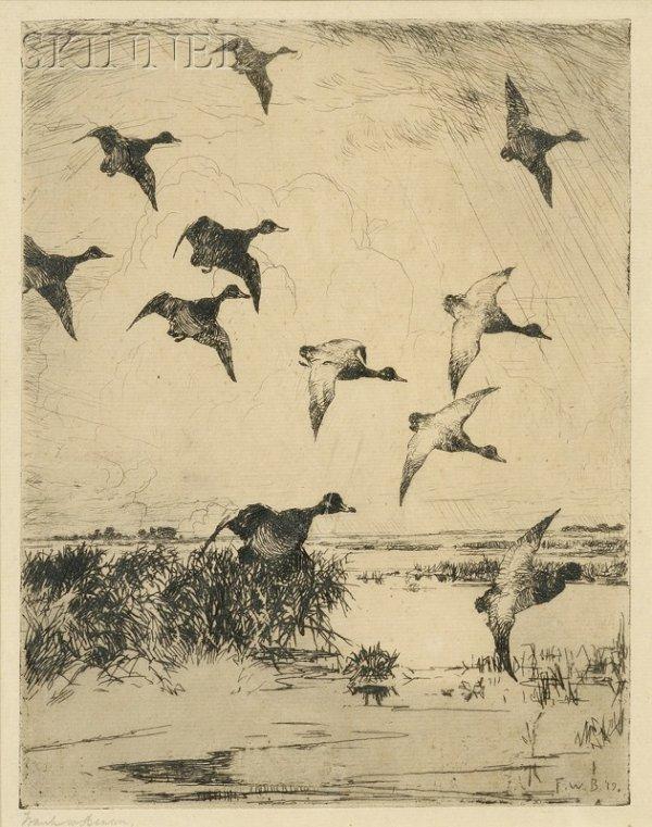 19: Frank Weston Benson (American, 1862-1951) Flying Du
