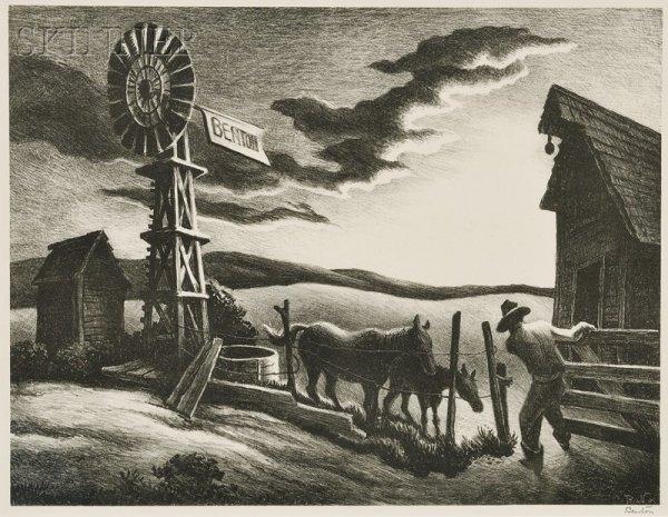 21: Thomas Hart Benton (American, 1889-1975) Arkansas E