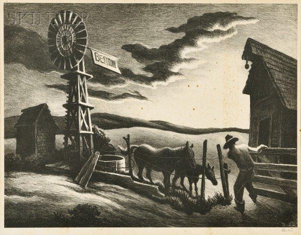 22: Thomas Hart Benton (American, 1889-1975) Nebraska E
