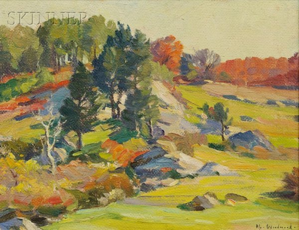 529: Mabel May Woodward (American, 1877-1945) The Hills