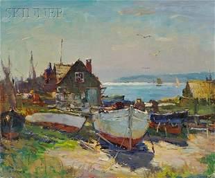 541: Antonio Cirino (American, 1889-1983) Fishermen on