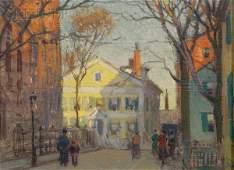 623: Paul Cornoyer (American, 1864-1923) New England St