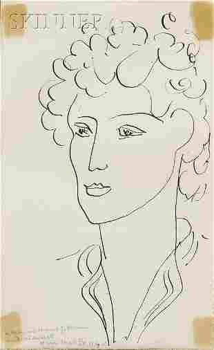 777: Henri Matisse (French, 1869-1954) Tete de Femme, 1