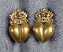 70 18kt Gold and Diamond Earclips KieselsteinCord e