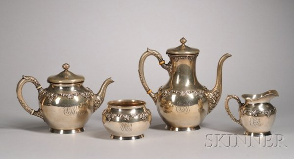 1: Assembled Four-Piece Sterling Silver Service, two pi