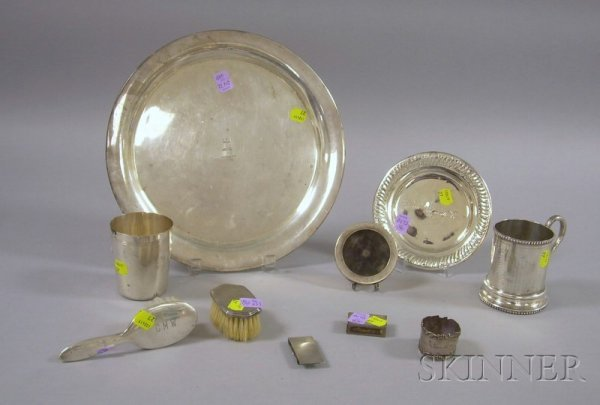 4: Ten Silver Serving, Vanity, and Presentation Items,