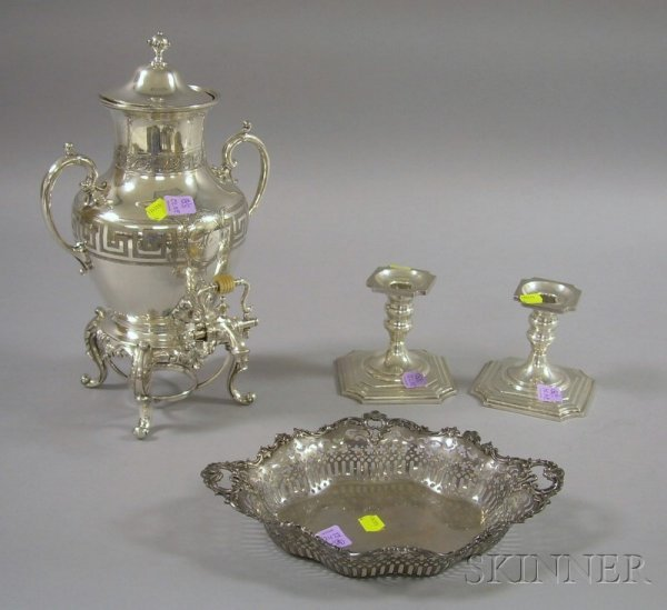 9: Group of Sterling and Silver Plated Serving Items, a