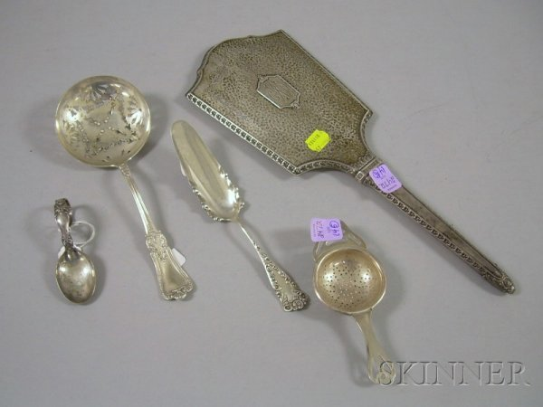 14: Five Silver Serving and Vanity Items, a Victorian s