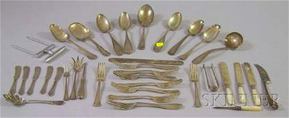 128: Group of Sterling Silver, Coin Silver, and Silver