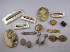 293: Small Group of Victorian Jewelry, including severa