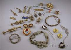 296 Group of Victorian and Costume Jewelry including