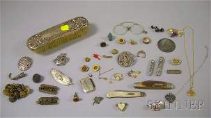 355 Group of Assorted Jewelry Items including a sterl