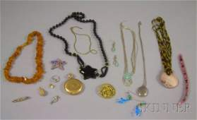390A Group of Mostly Costume Jewelry including a 14kt