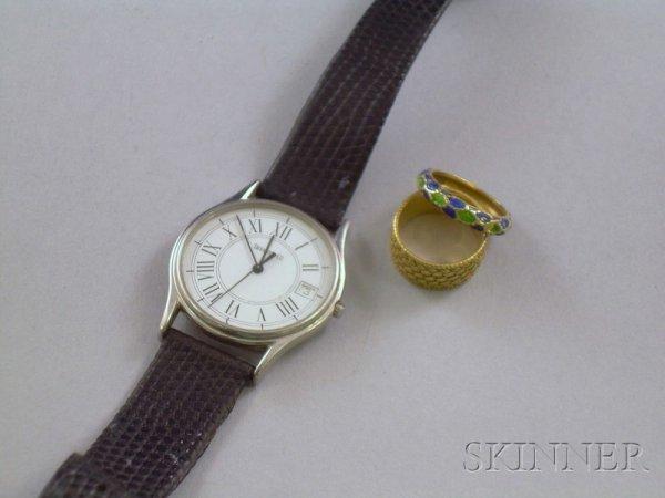 408: Three Jewelry Items, an 18kt gold Tiffany & Co. ba