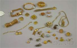 425 Small Group of Mostly Victorian Costume Jewelry i