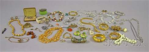 492 Large Group of Costume Jewelry including signed p