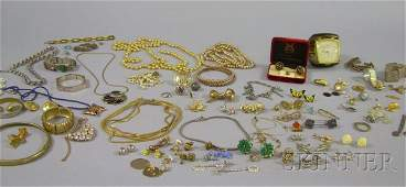 493 Large Group of Costume Jewelry including a gentle