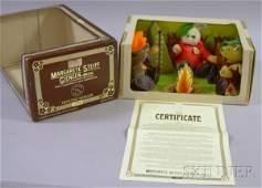 1045: Steiff Boxed Nimrod Teddy Bears Camping Set, orig