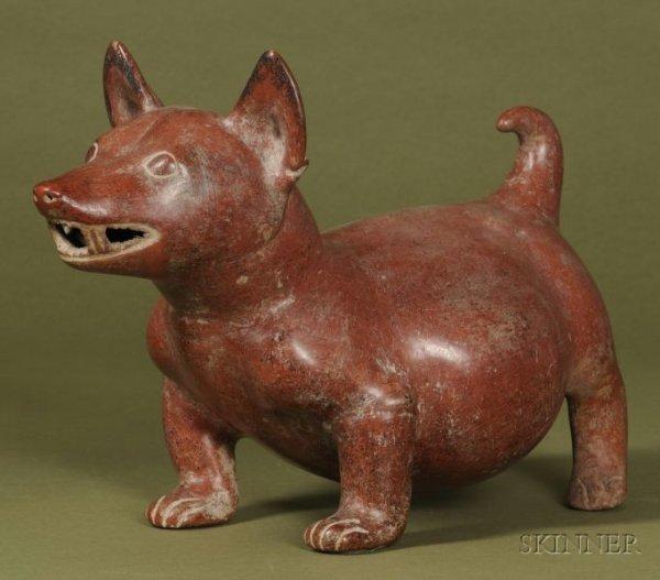 4: Pre-Columbian Pottery Dog, Colima, c. 100 B.C.-250 A