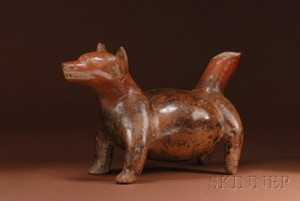 5: Pre-Columbian Pottery Dog, Colima, Mexico, c. 100 B.
