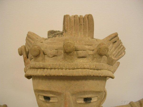 6: Pre-Columbian Pottery Figure, Veracruz, Mexico, c. 6