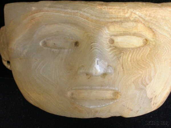 7: Pre-Columbian Carved Stone Head, Mexico, Teotihuacan