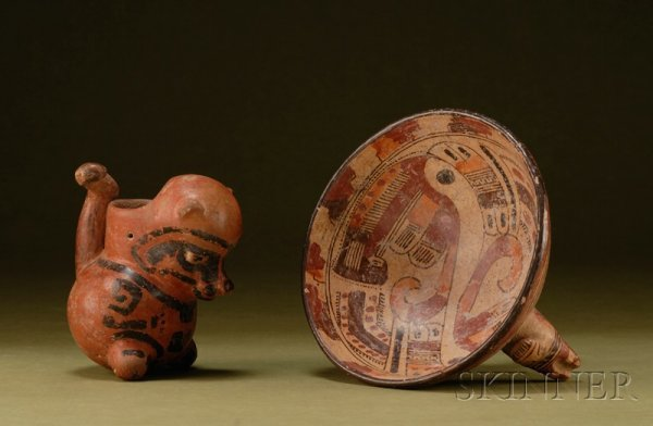 18: Two Central American Pre-Columbian Painted Pottery