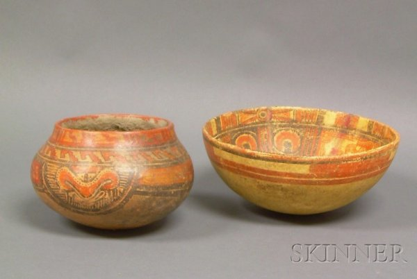 20: Two Pre-Columbian Polychrome Bowls, Costa Rica, bot