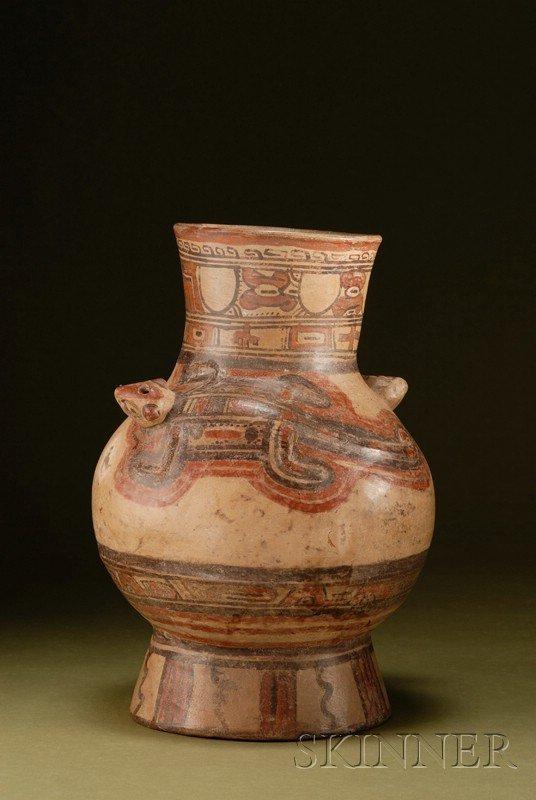 22: Pre-Columbian Polychrome Pottery Urn, Costa Rica, N