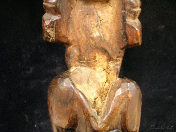 171: Polynesian Carved Wood Figure, Easter Island, Moai