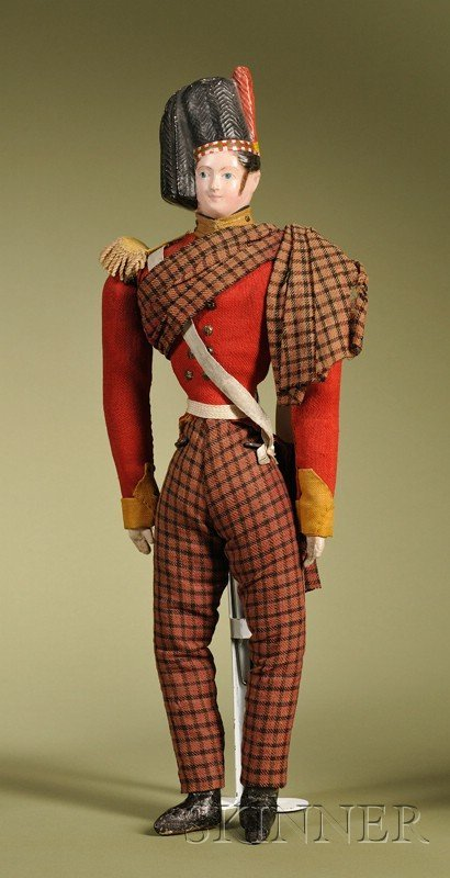 3: Papier-mache Scottish Highlander, Germany, c. 1850,