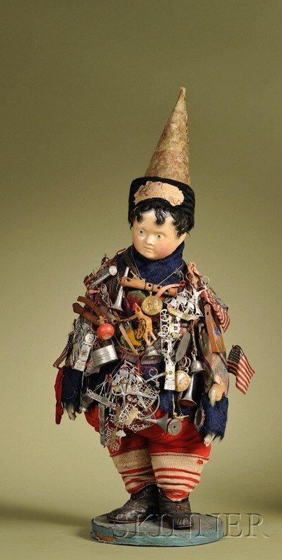 21: Important Kris Kringle Doll, Germany, c. 1852, papi